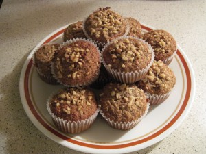 Banana Nut Flaxseed  Muffins