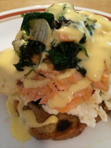 Salmon with Hollandaise Sauce
